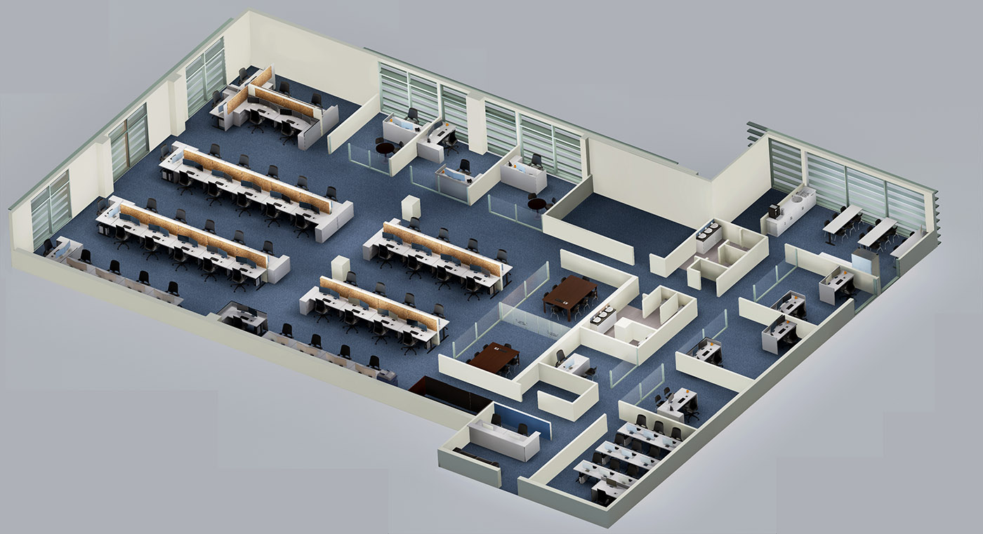 Virtual real estate tours in vancouver 3d animation for Office layout design 3d